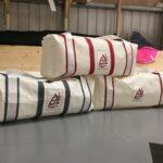 Striped Laminate Sailcloth Bag